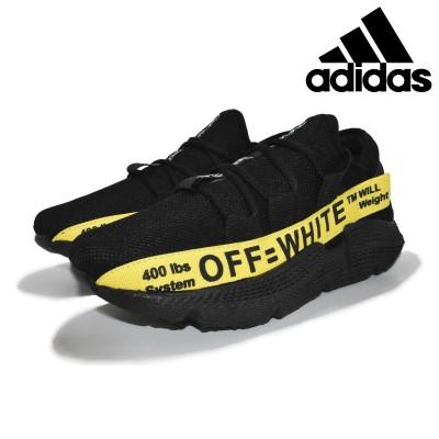 Tênis Masculino Adidas Off-White Preto-Amarelo