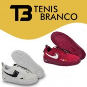 Combo de Tênis Air Force 1 Branco + Bordo