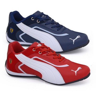 Kit 2 Tênis Puma Ferrari New Azul Marinho e Vermelho